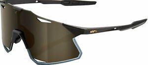 100% Hypercraft Bike Sunglasses Matte Black (Soft Gold Mirror Lens)