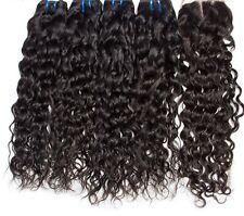 8A 400g/4bundles Unprocessed Brazillian Water Wave Human Hair & Closure