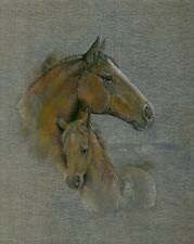 """Dufex Foil Picture Print - Horse and Foal - 8"""" x 10"""" size picture"""