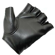 Cool Punk Men Women Soft Leather Fingerless Driving Motorbicycle Biker Gloves S