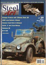 Steel Art 29 Krupp Protze Flak 30 Whippet M7 Priest Merkava, Gmc Famo Moser I