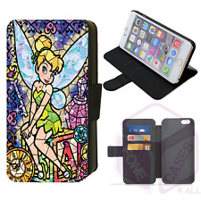 Disney STAINED GLASS TINKERBELL Fairy Flip Phone Case iPhone 4/5/6/7/8/X/XS/XR