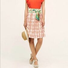 Anthropologie Maeve Size 0 Red Plaid Floral County Fair A Line Skirt