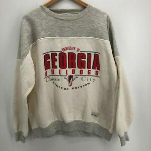 Gear Sweatshirt Men's XL Gray Georgia Bulldogs Vintage Limited Edition