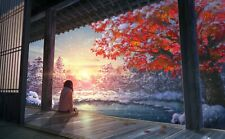 """sunset/Japanese, tree CANVAS PICTURE WALL ART MEDIUM 20x30"""" INCHES(can do bigger"""