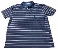 Callaway Opti-Dri Golf Shirt Men's XL Short Sleeve Navy Blue Gray Dri Fit Polo