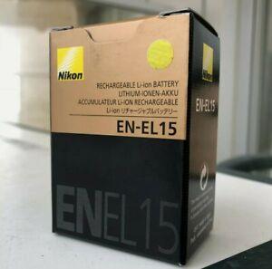 Genuine Nikon EN-EL15 Battery Pack For Nikon D7000 D7100 D7200 D800 D800E D750