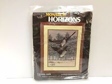 Monarch Horizons Flying Canada Geese Longstitch Needlepoint Kit Embroidery T1356
