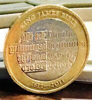 2011 £2 COIN KING JAMES BIBLE RARE TWO POUNDS