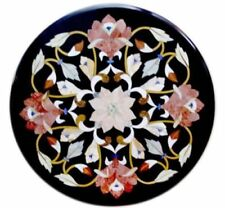 "24"" x 24"" Decorative Marble Coffee Table Top Inlay Handmade Work"