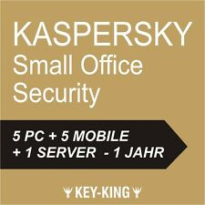 Kaspersky Small Office Security 5 | 5 Pc / User | 5 Mobile | 1 Server | Official