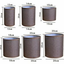 Lampshade Linen Textured Fabric Lamp Shade Table Ceiling Floor Light Cover Home