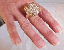 Gucci Ring Cocktail Horsebit Gold 18 K Diamonds Browns