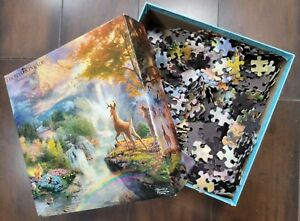 Disney Dream Collection Thomas Kinkade Puzzle Bambi's First Year Compete Used