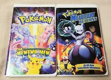 POKEMON THE FIRST MOVIE & MEWTO RETURNS Vhs Video Tapes Anime Movies VGC