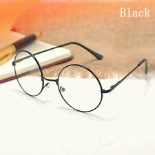 New Classic Round Lens Unisex Metal Frame Clear Glasses Nerd Spectacles Eyeglass