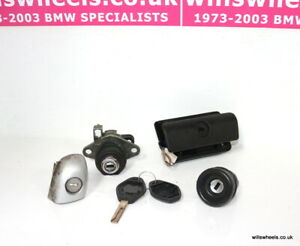 BMW E46 Cabriolet Full Matching Lock Set Key Ignition Barrel Door Boot Glovebox