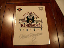 Hudson Valley Renegades MiLB 1994 Inaugural 1st Season Program Texas Rangers