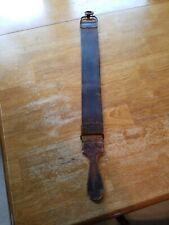"Vintage Used Barber Leather Strop Straight Razor Sharpening Shaving Strap  23"""