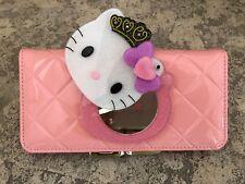 NEU Hello Kitty weiches Leder rosa verspiegelt Wallet