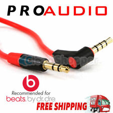 "Replacement Cable Cord Wire for Beats by Dr Dre Headphones Aux 3.5mm (1/8"") Red"
