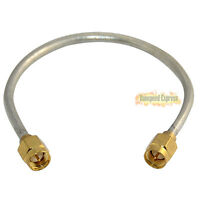 15cm RF Pigtail SMA Male to SMA Male Straight Jumper Cable RG402 M/M Connectors