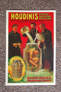 Harry Houdini magician poster #12 1908 Escape From The Galvanized Iron Can