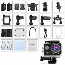 "GBB WiFi Extreme Sport Action Camera 4K 12MP 2"" Screen + FREE Accessories Kit"