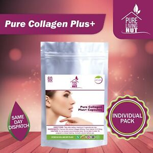 Pure Collagen Plus Tablets, Anti Ageing, Healthy Skin & Hair Natural Ingredients