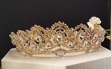 Princess Gold Plated Crystal Tiara Style T-001-B