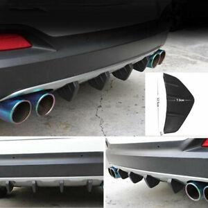 4PCS Car Anti-collision Rear Bumper Black Triangle Shark Fin Diffuser Protector