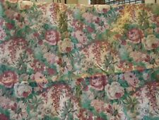 """Floral """"Tapestry-Look"""" Cotton Blend Fabric, 52"""" w. x 1.22 yds"""