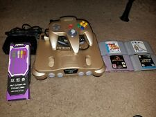 Nintendo 64 edition limite, color Gold, Working