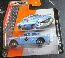 Matchbox '56 Buick Century Police Patrol 2014 Blue 50s 1956 Short Card RARE