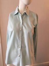 Petite Ladies Liz Claiborne No Iron Sage Green Button Front Blouse