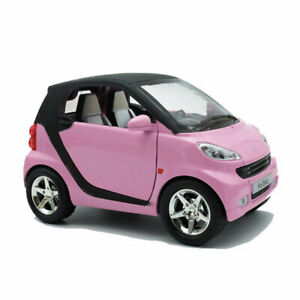1:24 Scale Smart ForTwo Model Car Diecast Kids Toy Gift Vehicle Pull Back Pink