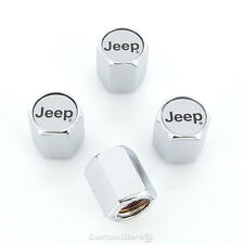 Jeep Silver Logo Tire Stem Valve Caps