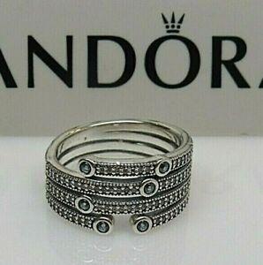 New w/Box Pandora Size 64 XL Shimmering Ocean Frosty Mint Ring 191002CZF