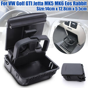 Rear Center Console Armrest Cup Holder For VW Jetta MK5 Golf MK6 GTI EOS Rabbit