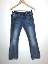 Miss Me Distressed & Embellished Studded Jeweled Boot Cut Jeans, 26, JE8034BR