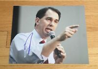 Scott Walker Governor Wisconsin Autograph Signed 8x10 Photo #1 2016 President