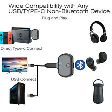USB C Type C Bluetooth Earphone Adapter Audio Transmitter for Nintendo Switch