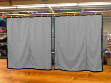 Lot of (2) Silver Curtain/Stage Backdrop, Non-Fr, 10 H x 10 W