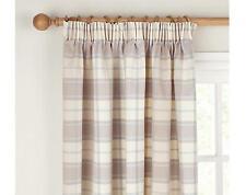 John Lewis Marlow Check Lined Pencil Pleat Curtains - W167 x D137cm - Cornflower