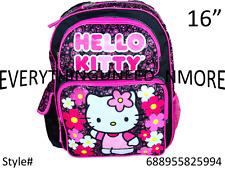 "Sanrio Hello Kitty Fullbody Shine Flower 16"" Canvas  Grils School Backpack-5994"