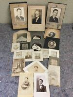 Lot Of Antique Photos-CDV's-Cabinet Cards-Some Named
