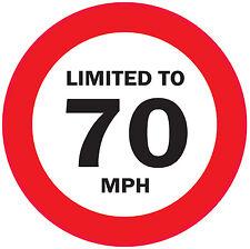 LIMITED TO 70 MPH Vehicle speed restriction sticker  VAN WAGON 120 x 120 mm