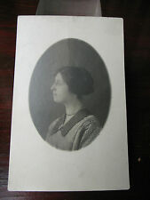 VINTAGE POSTCARD   SEPIA   PHOTO  WITH  YOUNG  WOMAN  VG  COND.