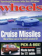 WHEELS Dec 96 XK8 DB7 550 Maranello Astra GSi  Civic Coupe Celica SX