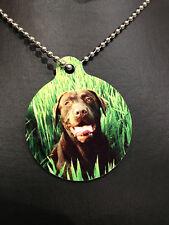 Pet Memorial Pendant Photo Tag  -Mini Photo Plaque & Chain Your Dog Cat Rabbit